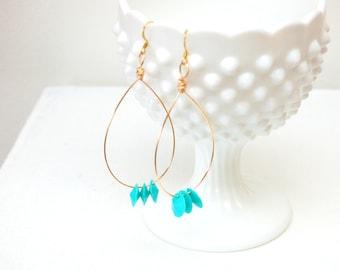 Pretty Little Lovelies Turquoise Hoop Earrings