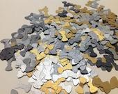 Bowtie Confetti  metallic black, silver, gold