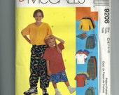 McCalls Boys' Shirt,Pants, Shorts, and Hat Pattern 9206