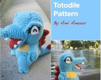 Totodile Pattern Crochet Pokemon Amigurumi PDF