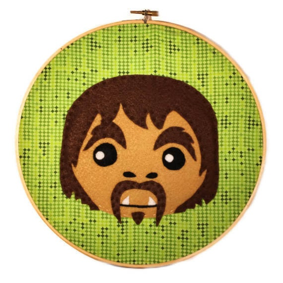 Items similar to squatchy embroidery hoop art on etsy