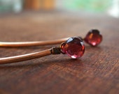 Dangling Earrings, Garnet Earrings