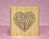 Small Celtic Knot Heart Rubber Stamp #456
