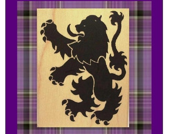 Large Scottish Rampant Lion Rubber Stamp Symbol of Scotland #264