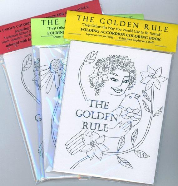 McCoy 30 Interfaith Golden Rule Accordion Coloring Book(s)