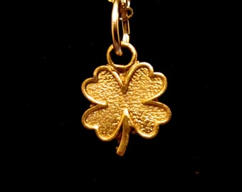 Teensy Tiny Four Leaf Clover Necklace