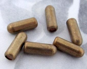 18 pcs. vintage raw brass stick pin clutches - f2788