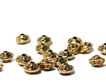 Golden UFO- spacer beads
