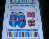 EMAIL Version of Standard Soft-Sole Shoe PATTERN (INFANT)