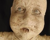 CollarBone 3 Foot Tall Mummy Art Doll by Ugly Shyla Goth Industrial Post  Apocalyptic  Distressed Art