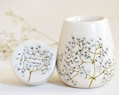 Hand Painted Herb Pod - Baby's Breath Collection
