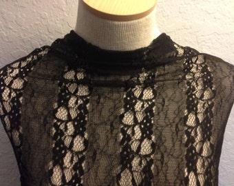 Black  Lace Fabric 1 Yard