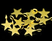 KG- 541 thai karen hil tribes silver 10 gold vermeil mini die cut star shape charm 8.0 mm.