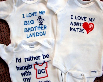 Personalized Bodysuit.  Choose One.  Cute Sayings Available or Use Your Own.