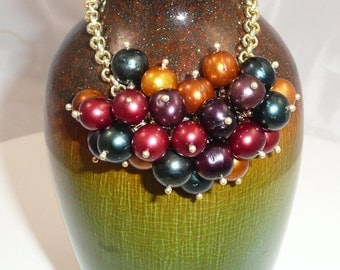 Fall Edition - freshwater pearl cluster bracelet