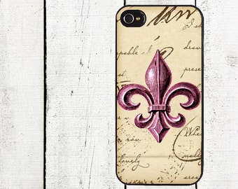 iphone 6 case Pink Fleur de Lis iPhone Case- for iphone 4,4s  iphone 5 case Galaxy s3 s4 s5