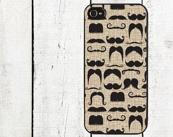 iphone 6 case Dandy Mustache Cell Phone Case -  for iPhone 4,4s or iPhone 5 - Father's Day