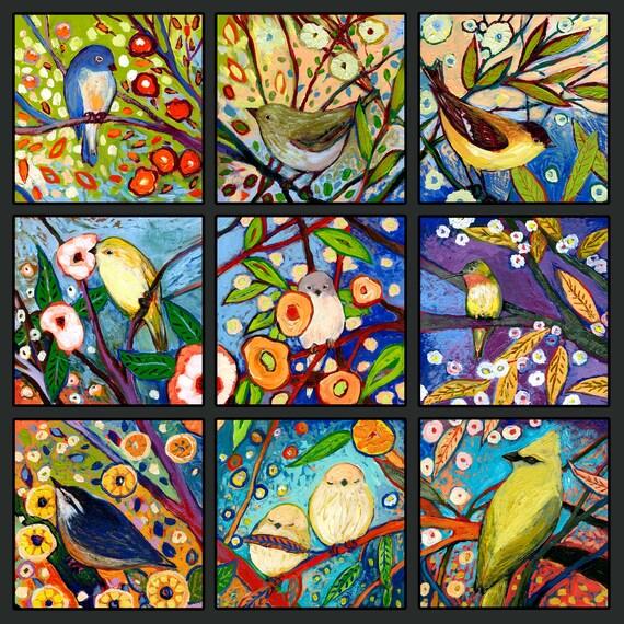 Modern Bird Art From The NeverEnding Story Set 9B Fine Art