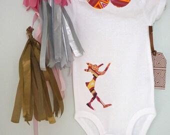 Pinocchio Fabric Silhouette Baby Onesie ( Emilio Pucci )