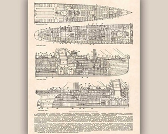 Nautical Print, Structure ocean passenger steamship, Seaside 11''x14'' Print, Beach cottage decor, Coastal beach wall art