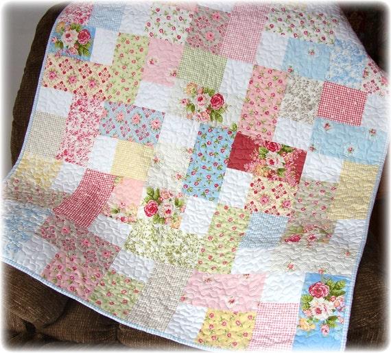 Baby Girl Quilt Hill Farm Fabrics