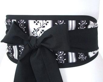 Looby Lou Obi belt - Floral Stripes