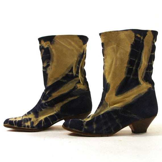 tie dye suede ankle boots s sz 7