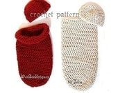 crochet pattern digital download simple baby cocoon pod and beanie