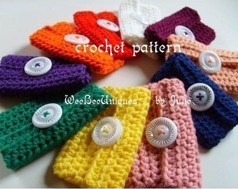 crochet pattern digital download mini wallet
