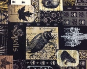 Michael Miller Fabric Nevermore Collection Nevermore Collage 1 Yard