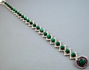 Malachite Diamonds Bracelet