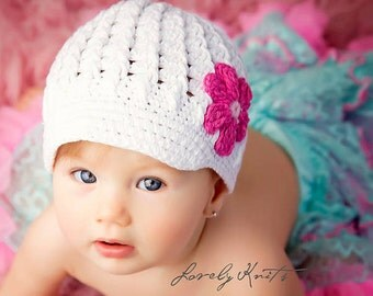 Baby Hat, Baby Girl Hats Newborn Hats, Baby Hats Photo Prop, Infant Hats, Baby Crochet Hat, Baby Girl Crochet Hats, Baby Girl Visor Hats