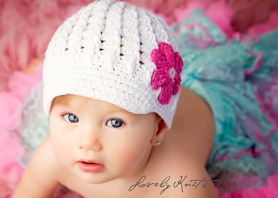 Crochet Hat Pattern For 8 Month Old : Baby Hat Baby Girl Hats Newborn Hats Baby Hats Photo Prop