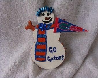 Snowman Gator Pin ... What every Gator Fan should be wearing
