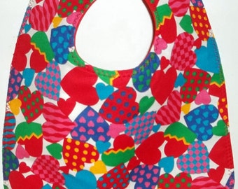Baby / Toddler Bib: Country Patchwork Hearts