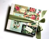 Vintage Florist Large Guest Book and Photo Album - Made to order