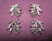 Lily of the Valley Small Stampings Silver Tone Left and Right Pairs on Etsy Quantity Choice