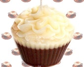Mocha Cream Cupcake Candle Creamy Chocolate and Coffee Scent