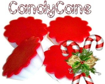 4 Candy Cane Tarts Candle Melts Peppermint Scent