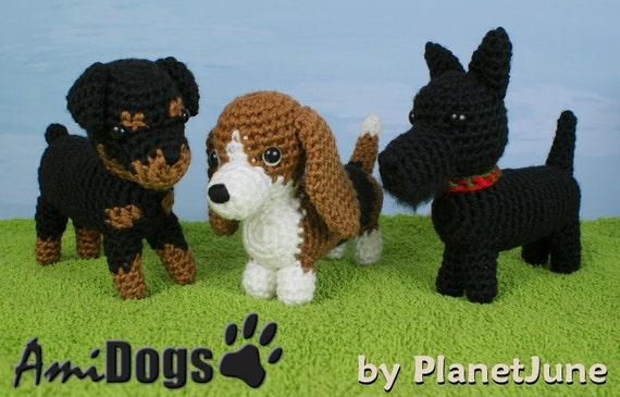 Tinkerbell Amigurumi Free Pattern : PDF Special Deal AmiDogs Set 7 3 amigurumi dog CROCHET