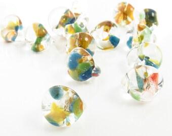 10mm Unicorne Tear Drop Lampwork Beads - Mango Tango - 4 Pieces - 22206