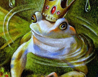 Frog Prince Bookmark From Original Painting by Melody Lea Lamb