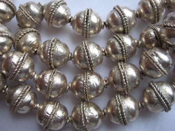 5 Ethiopian metal spacer beads