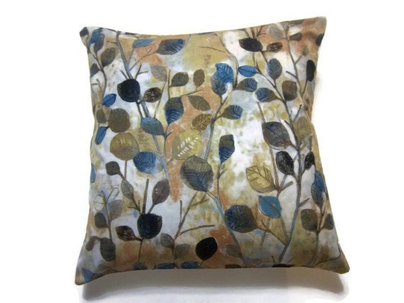 Two Midnight Blue Gold Navy Blue Brown Rust By