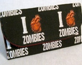 Zombie I love zombies mini wallet card pouch black