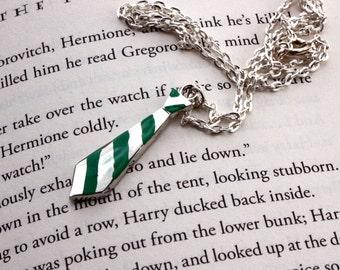 Harry Potter - Slytherin Ravenclaw Hufflepuff or Gryffindor Neck Tie Necklace