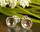 Darling Bowl Studs- Recycled Sterling Silver (Ready to ship)