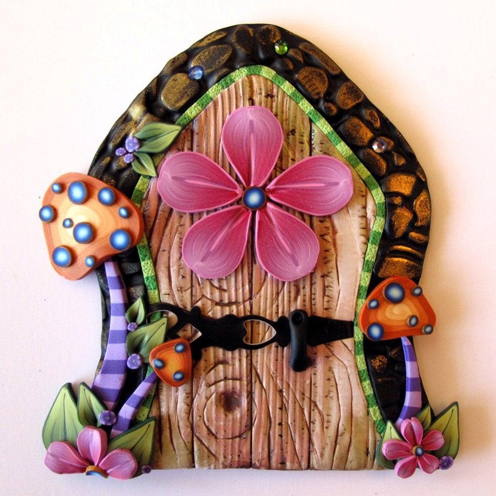 Toadstool Fairy Door Pixie Portal Kids Room Decor