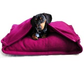 Eco Pet Bed - Recycled Pink Fleece
