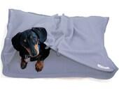 Eco Pet Bed - Recycled Sky Blue Fleece